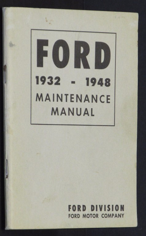 Image for Ford 1932-1948 Maintenance Manual