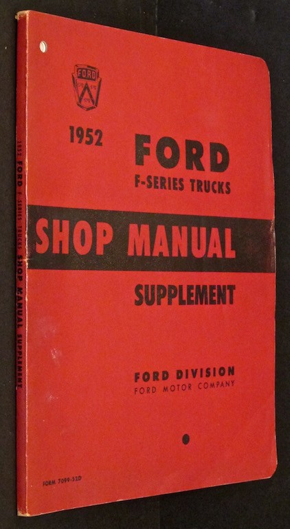 Image for 1952 Ford F-Series Trucks Shop Manual Supplement - January 1952