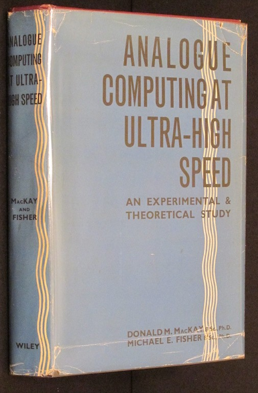 Image for Analogue computing at ultra-high speed;: An experimental and theoretical study