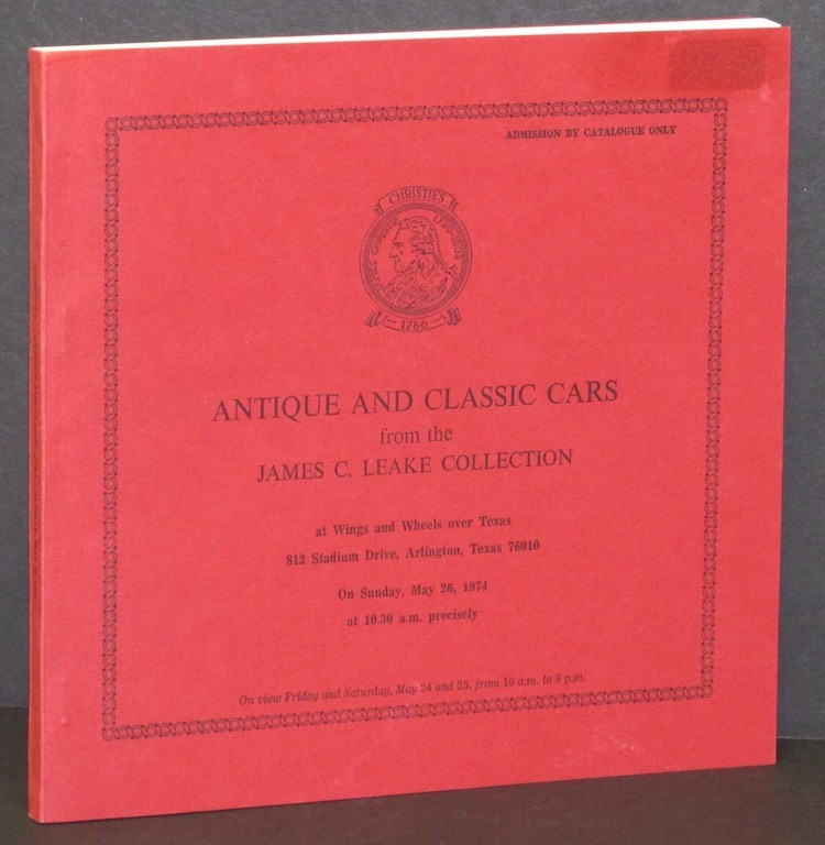 Image for Antique and Classic Cars from the James C. Leake Collection - Auction held Ma...