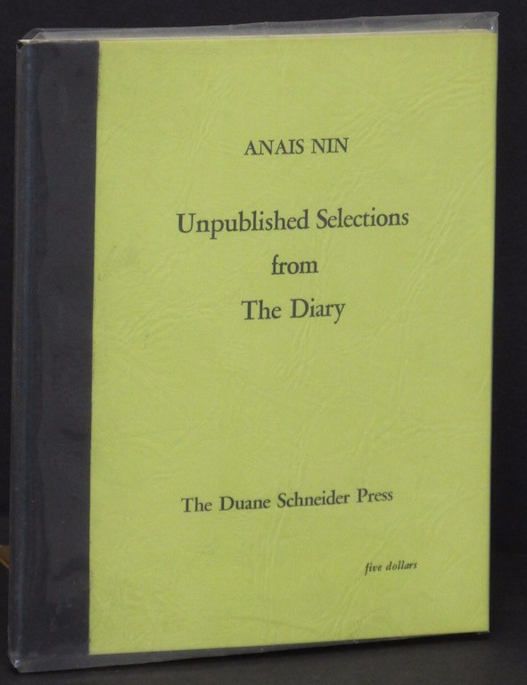 Image for Unpublished selections from the diary.